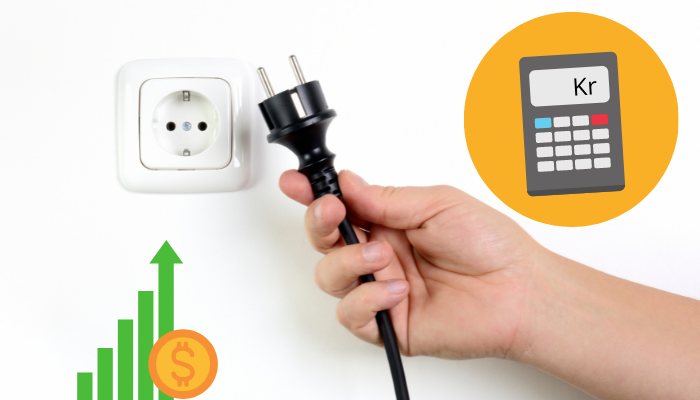 Beräkna kostnad för förbrukning av el – elektrisk apparat